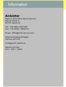 SMB- Service Impressum